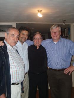 Papa, Geert, Leonoardo y Nestor