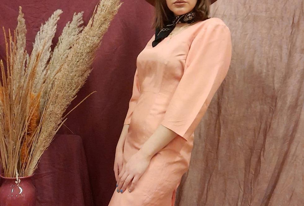 Silk Dress In Peach