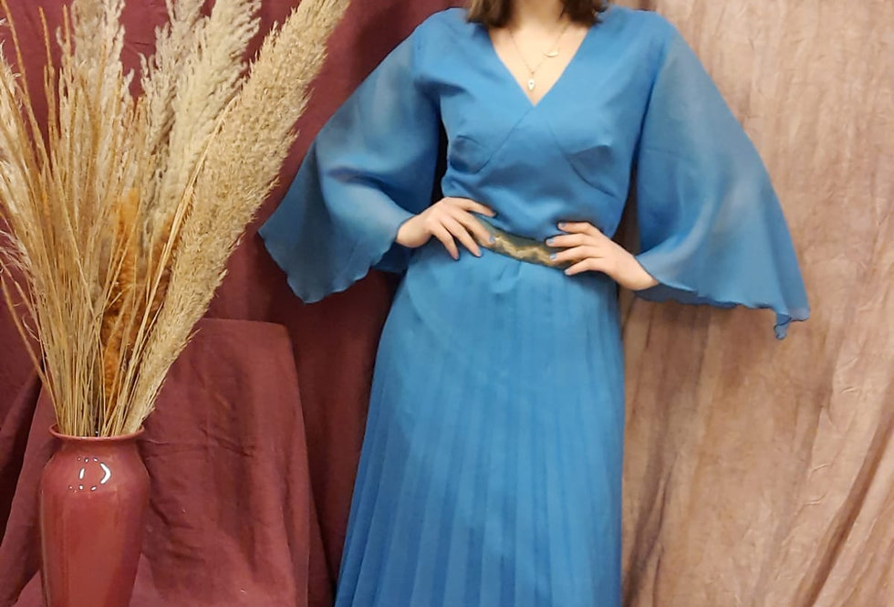 Vintage Blue Angel Maxi Dress