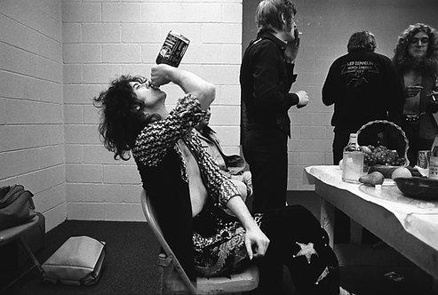 Jimmy Page backstage