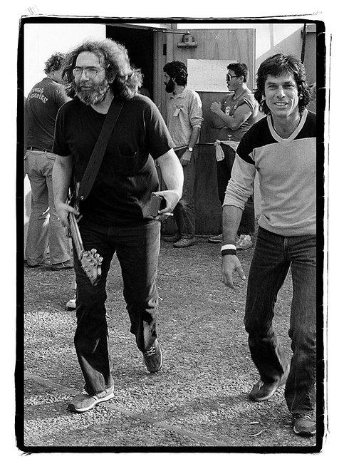 Jerry Garcia and Mickey Hart