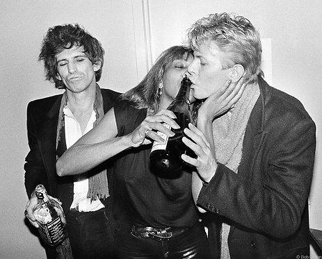 Keith Richards, Tina Turner and David Bowie