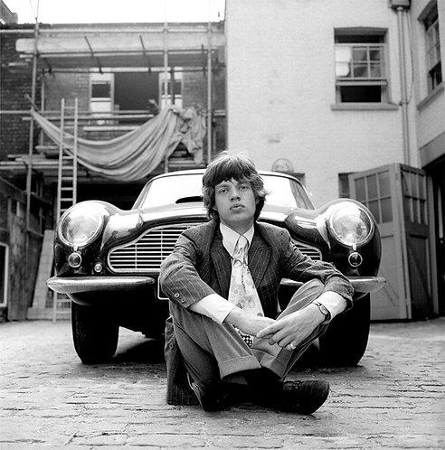 "Mick Jagger ""Aston Martin"""