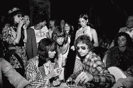 Bob Dylan with MickJagger and Keith Richards
