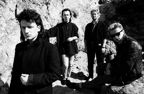 U2, Zuma Beach, CA, 1985