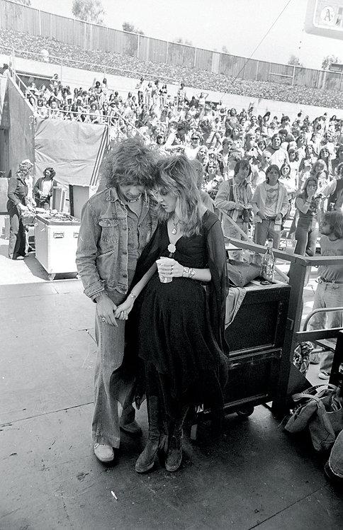 Stevie Nicks & friend, 1976