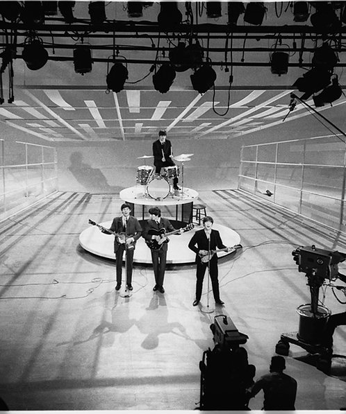 The Beatles taping the Ed Sullivan Show, 1964