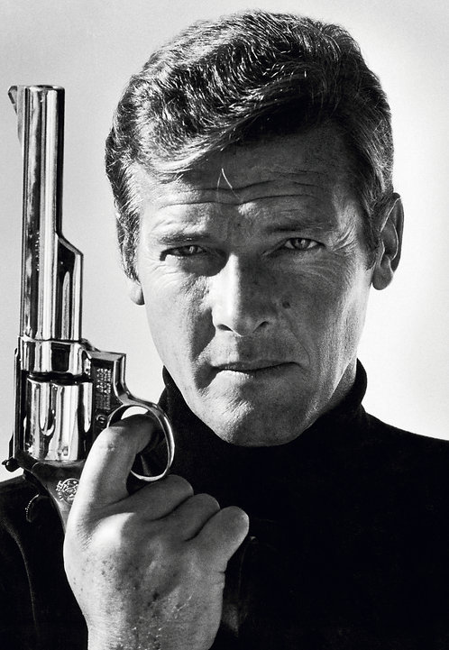 Roger Moore, James Bond, late 1970's