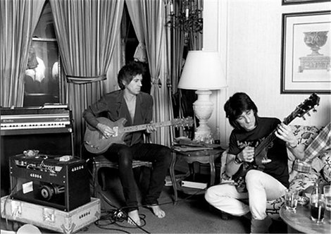 Keith Richards and Ron Wood, Rolling Stones, 1983