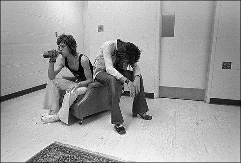 Mick Jagger and Keith Richards, U.S. Tour 1972