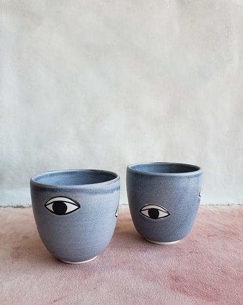Many Eyes Cup - Coastal Grey