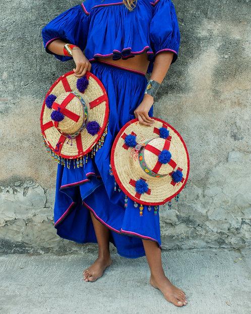 Huichol Blue Skirt