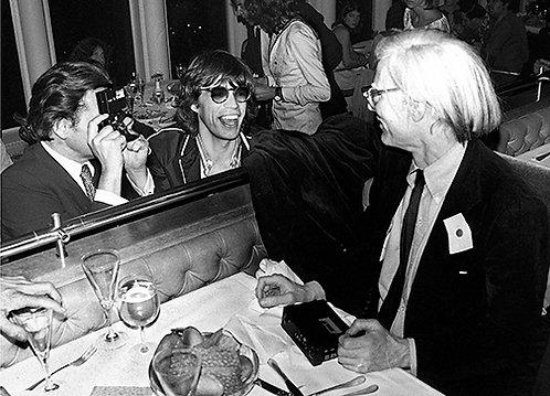 Mick Jagger and Andy Warhol