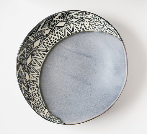 Round Cresent Wall Hanging Serving Bowl