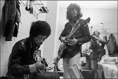Jimi Hendrix and Mick Taylor, New York, NY 1969