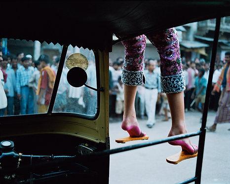 Pink Feet on Rickshaw