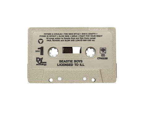 "Beastie Boys ""Licensed to Ill"" cassette tape"