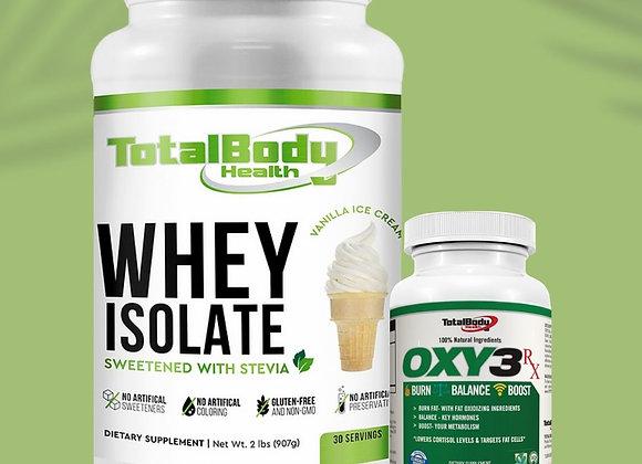 Whey Isolate Vanilla & Oxy3 Combo
