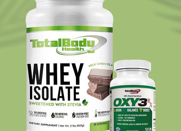 Whey Isolate Chocolate  & Oxy3 Combo