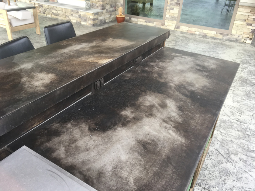 Acid Stained Outdoor Kitchen
