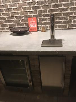 Kegerator in outdoor kitchen