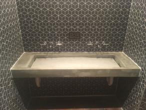 Ultra-shallow Concrete Sink