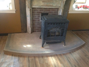 Acid Stained Hearth