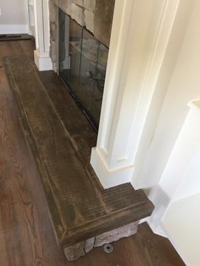 Wood Look Concrete Hearth