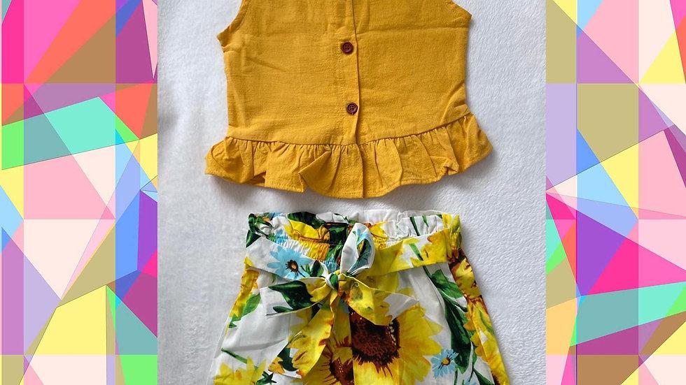 Sunflower Top & Short Set