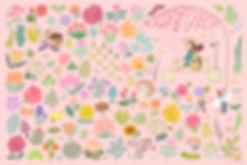 spring, springtime, garden, flower, flowers, cherryblossom, pink, farm, blossom, bloom, illustration, springillustration