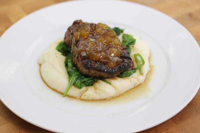 tri-pepper filet steak