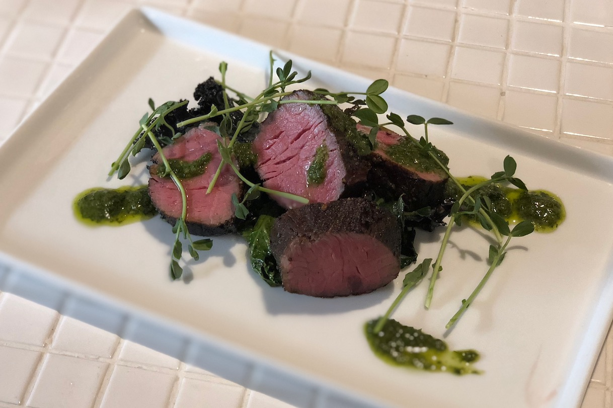 seared tenderloin and chimichurri