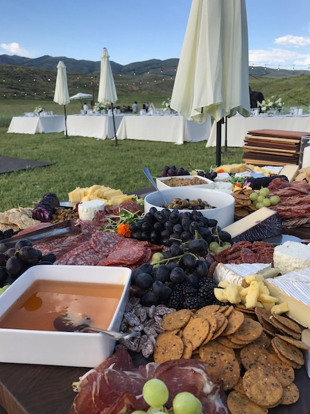 outdoor charcuterie wedding