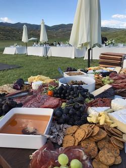 outdoor charcuterie wedding