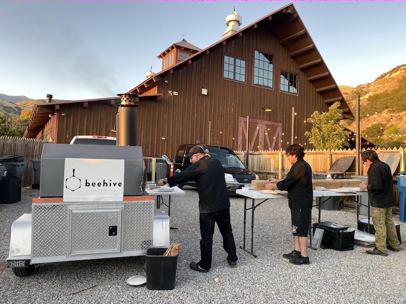 wedding catering wood fired pizza
