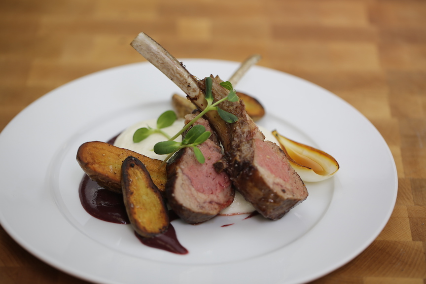 plated lamb rack
