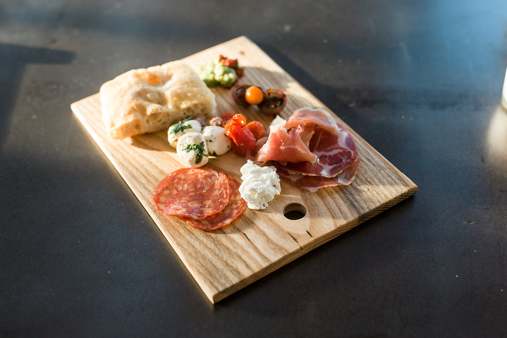 charcuterie plate and artisan bread