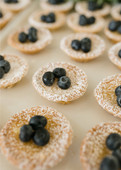 lemon tarts with blueberries