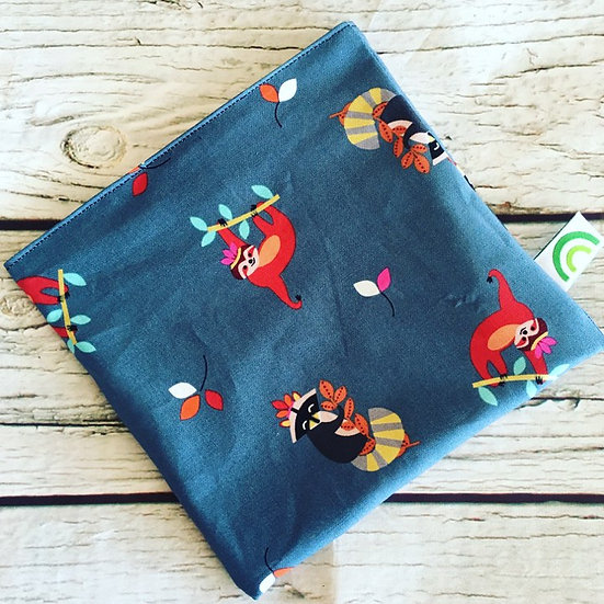 Sloths and Raccoons Reusable Sandwich Bag