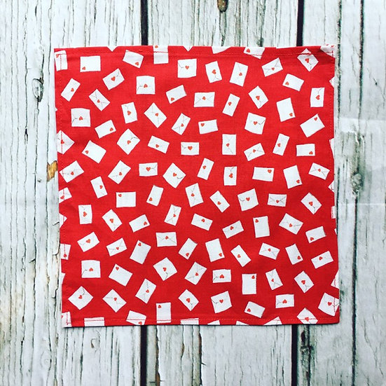 Be my Valentine Love Letters Handkerchief