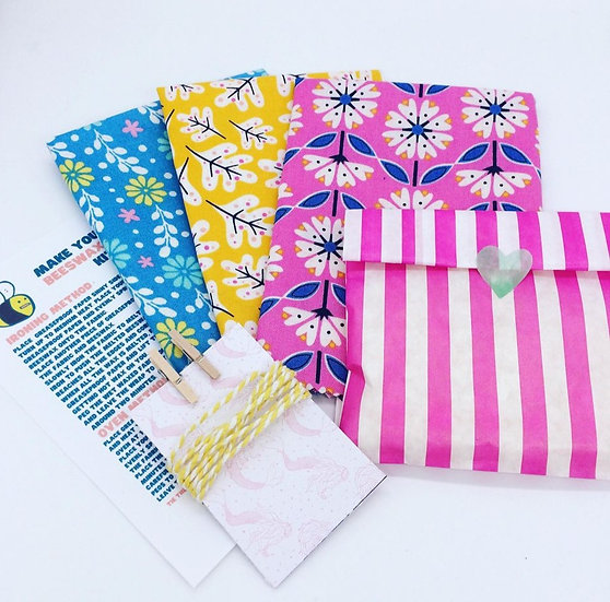 Make Your Own Beeswax Wrap Kit- Colourful Florals