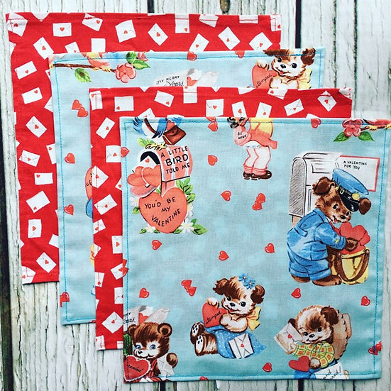 Be my Valentine Handkerchief Four Pack