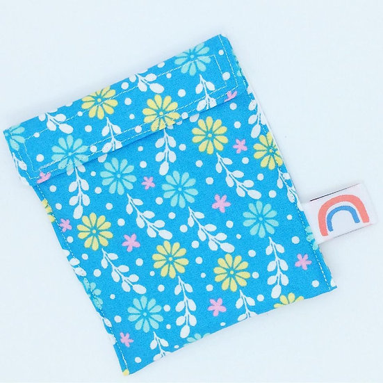 Blue Floral Travel Wet bag for Cloth Sanitary Pads