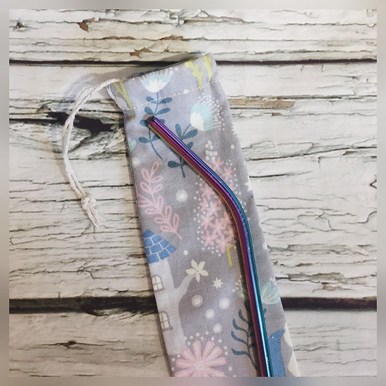 Winter Wonderland Reusable Straw and Pouch