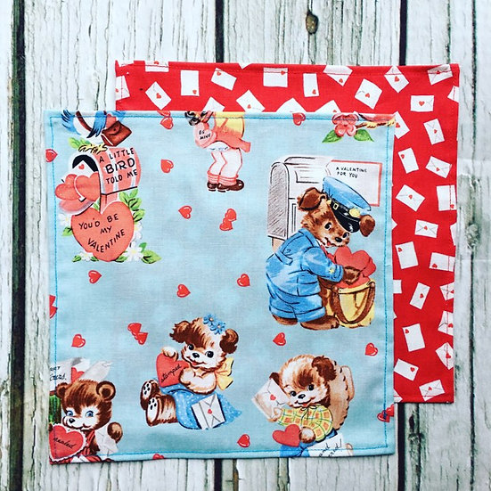 Be my Valentine Handkerchief Two Pack