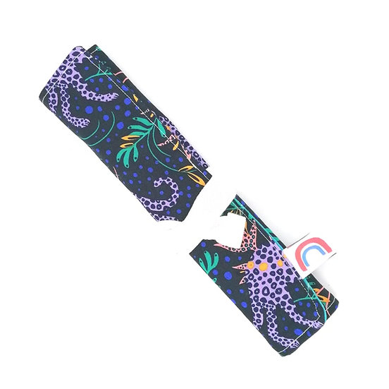 Reusable Bamboo Cutlery Roll and Wrap-Leopards