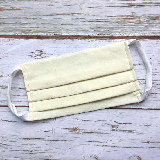 Adult Face Mask with Filter Pocket-Cream