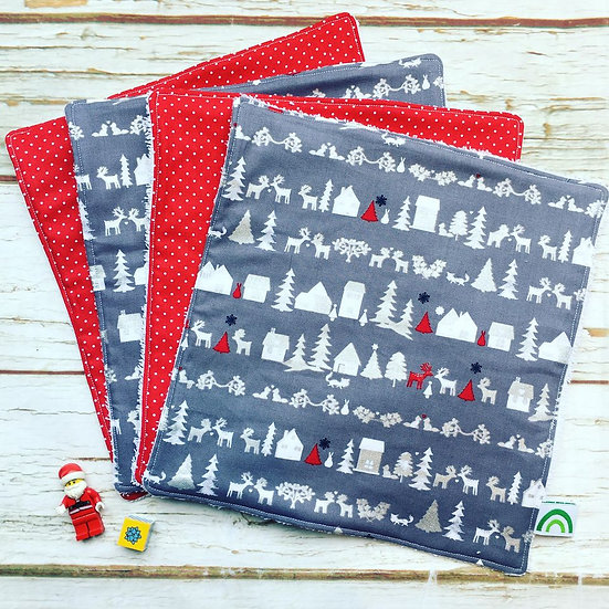 Christmas Town Kitchen Towel Four Pack