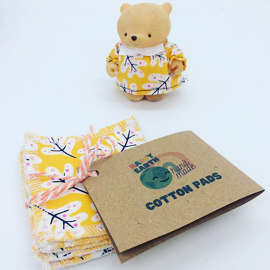 Yellow Leaf Cotton Make Up Wipes