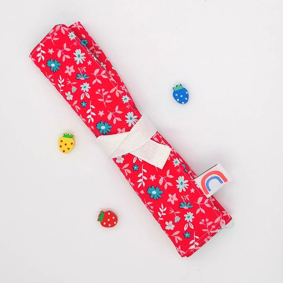 Reusable Bamboo Cutlery Roll and Wrap-In Bloom